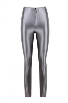 ANAİS MARGAUX paris Cecile Silver Shiny Pants
