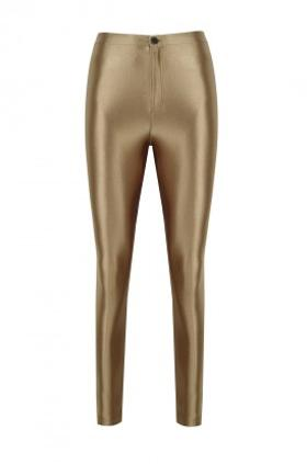 ANAİS MARGAUX paris Cecile Gold Shiny Pants