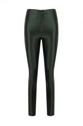 ANAİS MARGAUX paris Cecile Green Shiny Pants