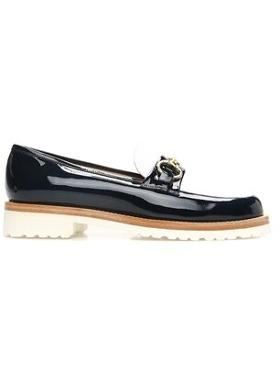 LUCA GROSSI Rugan Lacivert Loafer