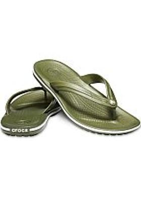 Crocs Crocband Flip - Army Green-White