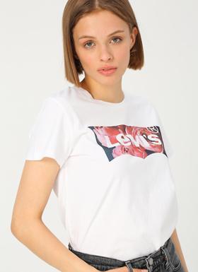 Levi's The Perfect Tee Hsmk Photo Fill White G T-Shirt
