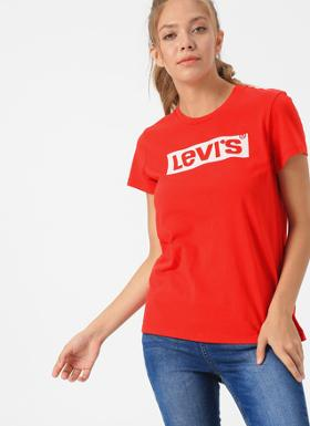 Levi's The Perfect Tee Box Tab Brilliant Red T-Shirt