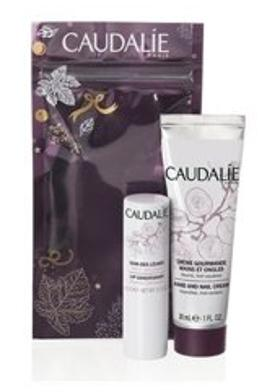 Caudalie Winter Duo Hand and Nail Cream Lip Conditioner Set