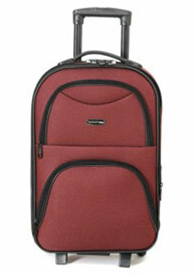 Travel Soft U KMR 6001-K Bordo Unisex Küçük Valiz