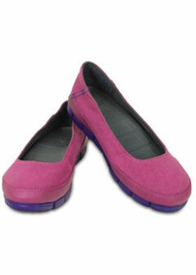 Crocs STRETCH SOLE FLAT WOMEN'S Mor Kadın Babet