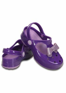 Crocs CARLIE BOW MARY JANE PS Mor Kız Çocuk Terlik