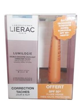 Lierac LIERAC Lumilogie Day & Night Dark Spot Correction Double Concentrate 30 ml ALANA SPF50+ Güneş Koruma HEDİYE
