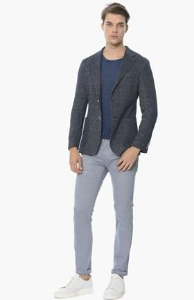 Network Slim Fit Lacivert Triko Ceket