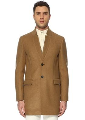 Network Slim Fit Camel Palto