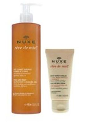 Nuxe Nuxe Gel Lavant Surgras 400ml + Hand Cream 50ml Set
