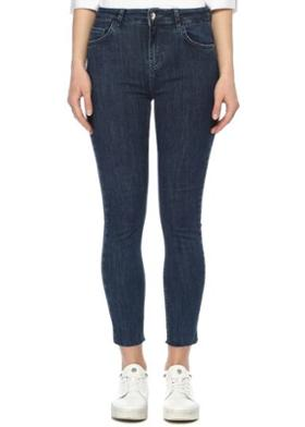 Network Mavi Normal Bel Skinny Jean Pantolon