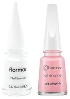 Flormar Flormar Nail Enamel 077 Light Pink 11 Ml+Nail Enamel 400 Bright White 11 Ml