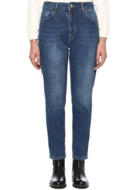 Network Regular Fit Lacivert Normal Bel Jean Pantolon